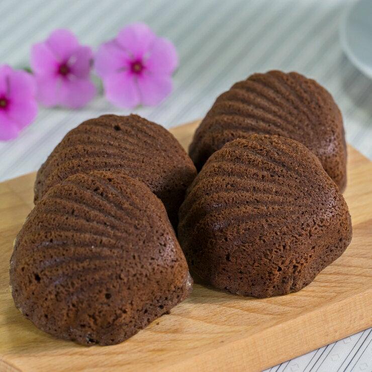 瑞士蓮巧克力 瑪德蓮 (每盒8入) 燒?子 貝殼蛋糕 嚴選自70%進口苦甜巧克力 西班牙可可粉 特寶栗?子粉 法國進口發酵奶油 巧克力控的最愛