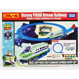 【 TAKARA TOMY 】Disney x PLARAIL 迪士尼鐵道入門組 - 巴斯光年