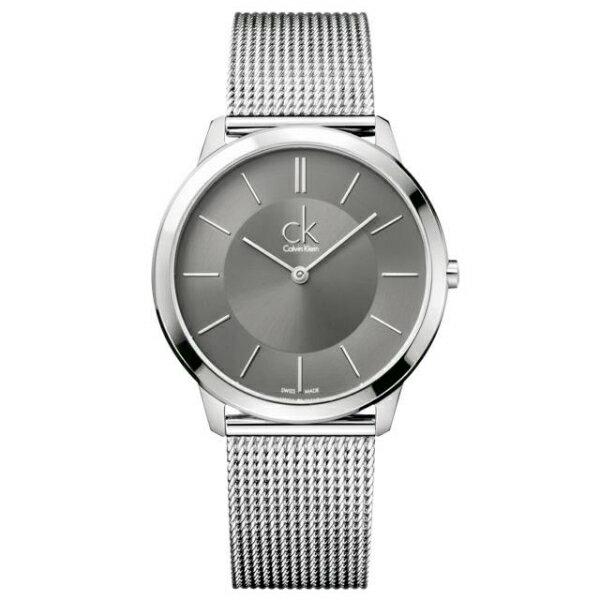 CK 經典系列(K3M21124)簡約風潮米蘭時尚腕錶/黑面40mm