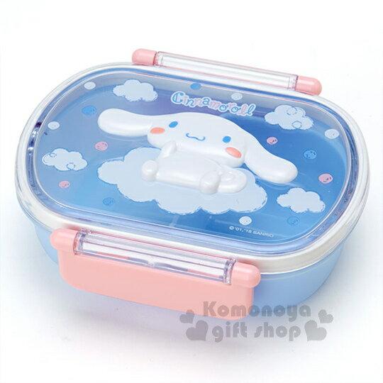 〔小禮堂〕大耳狗 日製雙扣微波便當盒《藍粉.坐姿.雲朵.點點.立體造型蓋》容量約360ml