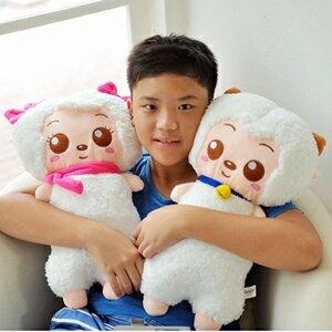 美麗大街~10410082812~12吋喜羊羊長型玩偶 抱枕 娃娃^(不挑款^) ~  好