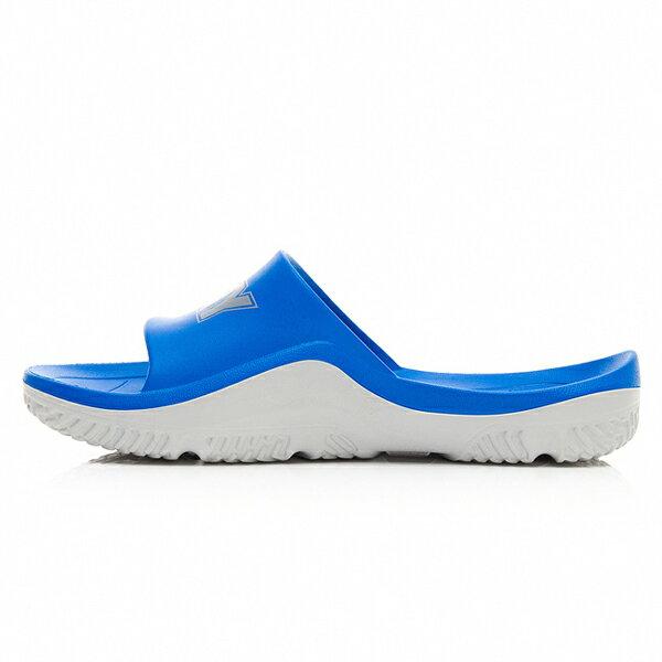 《超軟Q防水拖》Shoestw【92U1FL07RB】PONY PARK-X 防水拖鞋 海灘拖鞋 軟Q 拖鞋 寶藍灰 男生尺寸 2