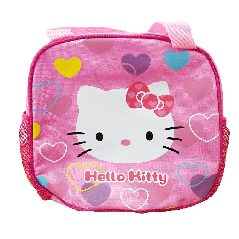 【真愛日本】15063000023  單層手提便當袋-愛心  三麗鷗 Hello Kitty 凱蒂貓 餐帶 便當袋 袋子 收納袋