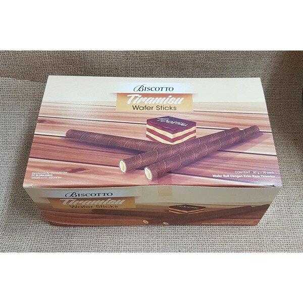 (印尼) 好圈子提拉米蘇捲心酥 1盒20入(1盒50公克) 特價175元 【8993083938945 】