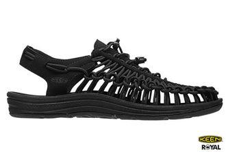 Keen 新竹皇家 黑色 彈性編繩 運動 護趾涼鞋 男女款 NO.A8265-I7112