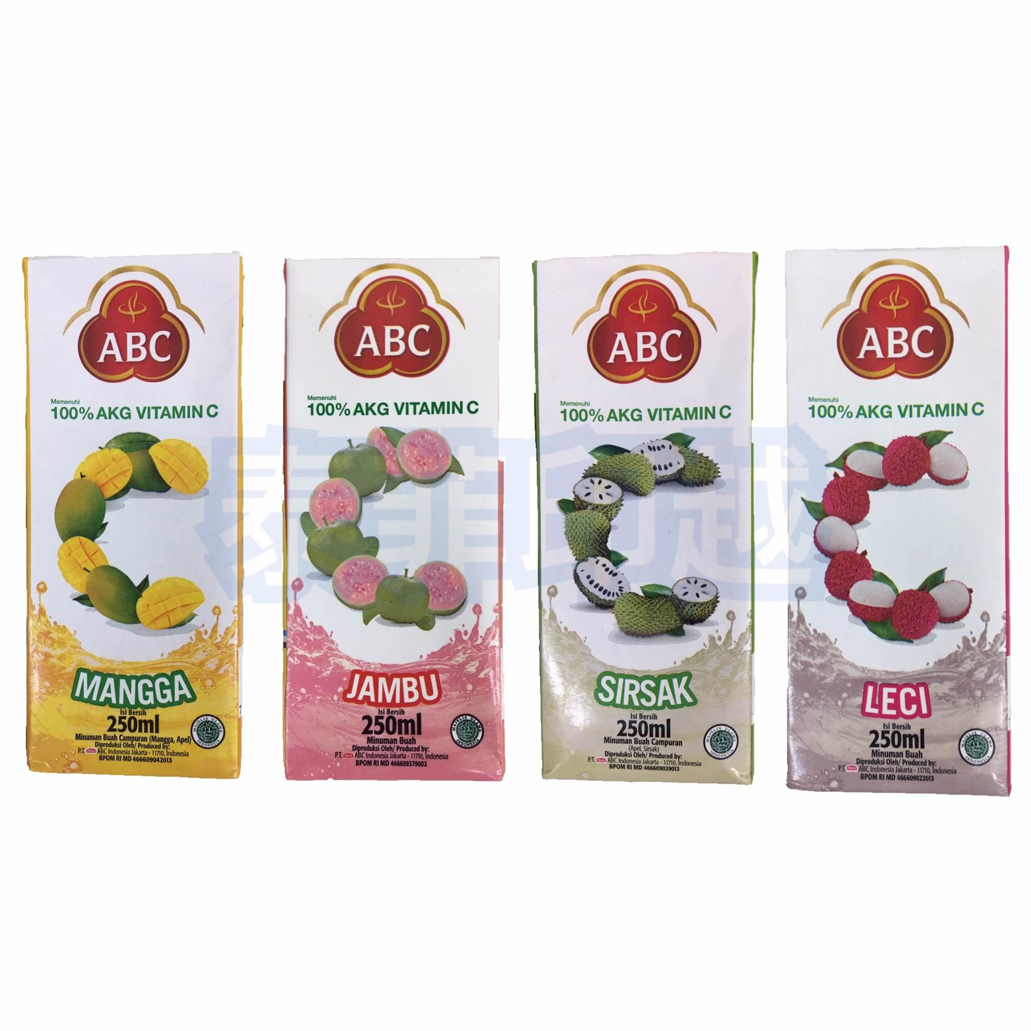 印尼 abc  芒果 番石榴  刺番荔枝 荔枝 果汁
