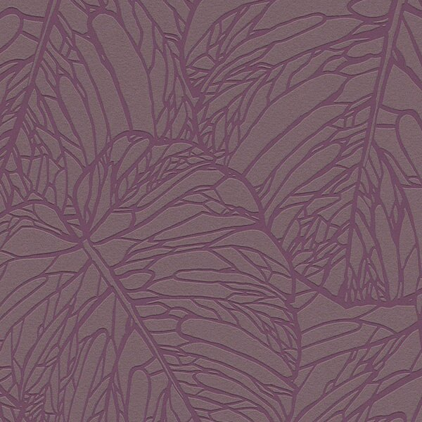 rasch 2018 /Nordics 609363 北歐風壁紙 紫色 樹葉 葉脈 DIY工具套餐 牆紙