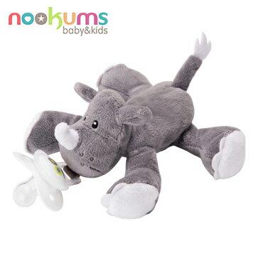 NANABABY:【美國nookums】安撫奶嘴玩偶-灰犀牛#NOO001006