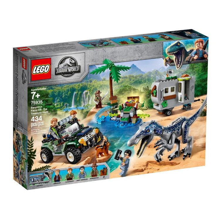 75935【LEGO 樂高積木】侏儸紀世界 Jurassic World 系列 - 重爪龍對決:尋寶探險 Baryonyx Face-Off: The Treasure Hunt (434pcs)
