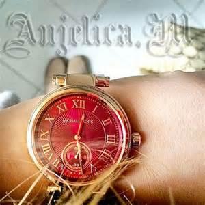 美國Outlet正品代購 MichaelKors MK 復古羅馬鑲鑽紅  陶瓷  三環 手錶 腕錶 MK6086 5