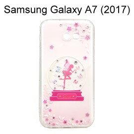 施華洛世奇空壓氣墊軟殼[水晶天使]SamsungGalaxyA7(2017)A720F