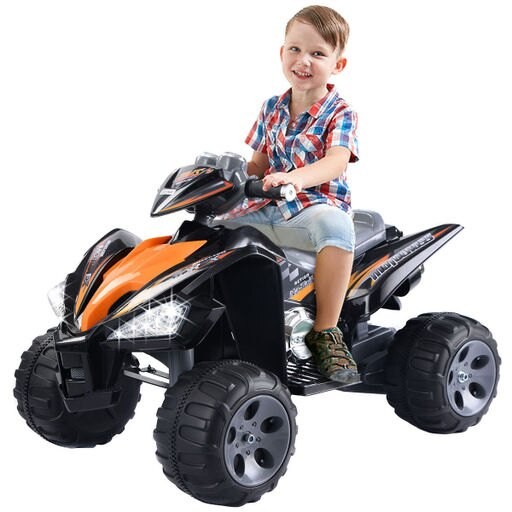 Costway Kids Ride On ATV Quad 4 Wheeler Electric Toy Car 12V Battery Power Led Lights e0bae3d455accb1a70125706591afff0