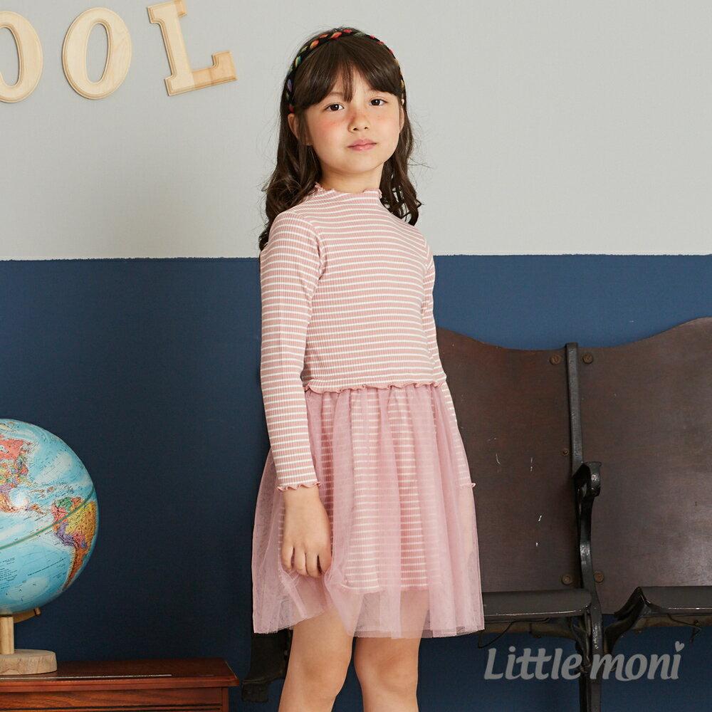 Little moni 拼接紗裙洋裝-粉紅(好窩生活節) 0