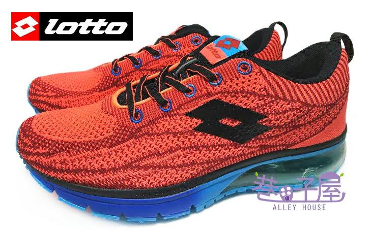 ~巷子屋~義大利第一品牌~LOTTO 男款WAVEKNIT編織氣墊慢跑鞋 ^~2562^~