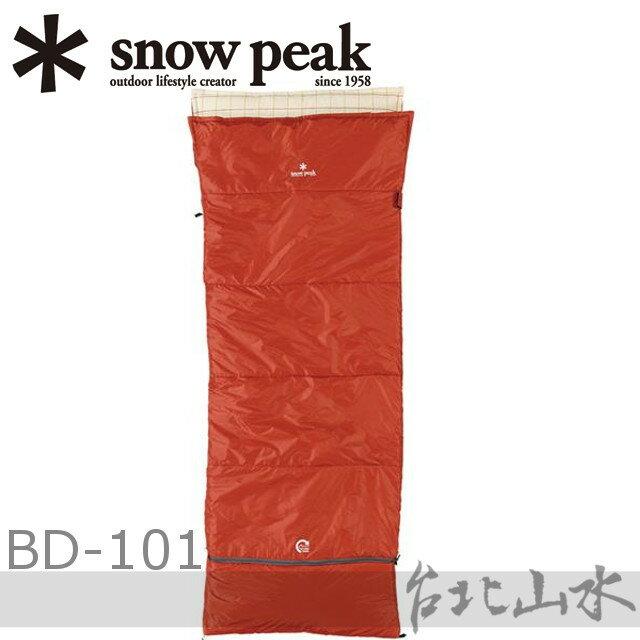 Snow Peak BD-101方形露營睡袋-化纖5度/信封睡袋/日本雪峰