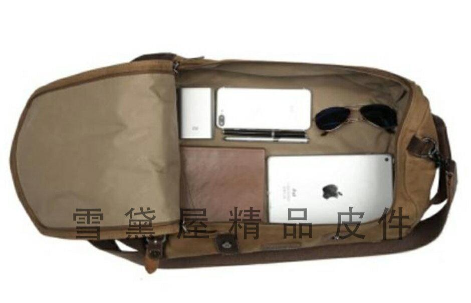 ~雪黛屋~troop 後背旅行圓筒運動包中容量可A4資料夾帆布經典包100%純棉加強防水帆布耐磨耐承重量STRP0444