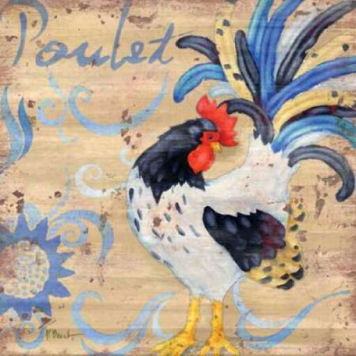 Gango Editions PDXBNT233LARGE Royale Rooster IV Poster Print by Paul Brent, 24 x 24 - Large 7d8f0ec0d90cb1c9530f36f551cc5d8c