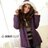 鋪棉外套--寒冷天氣的最佳造型單品-素面毛邊連帽鋪棉大衣 / 外套(黑.咖.紫M-2L)-J45眼圈熊中大尺碼 0
