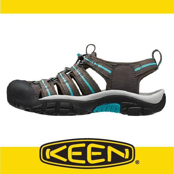 萬特戶外運動-美國KEEN NEWPORT H2 戶外護趾涼鞋 織帶 女款 棕/藍 163-1014200