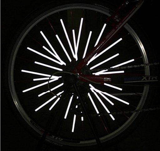 《意生》超值炫彩鋼絲條反光條 12條/包 自行車螢光輻條鋼圈輪圈鋼絲警示條安裝在鋼絲上增加夜間騎乘安全