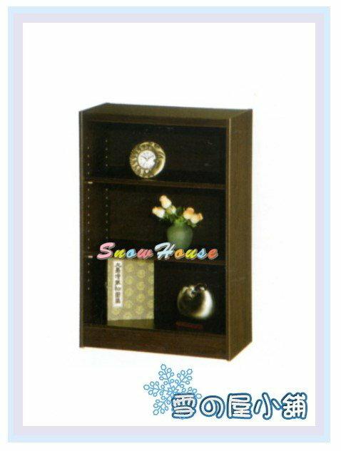 ╭☆雪之屋居家生活館☆╯AA553-01 F-01書櫃(黑胡桃)(美背式)/置物櫃/收納櫃/展示櫃/附活動隔板2片