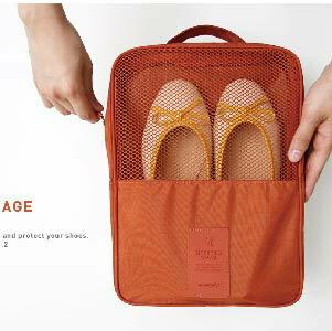 美麗大街【BF045E9E877】旅行收納袋整理包旅遊必備行李箱防水帶網格鞋包鞋盒塑膠商標