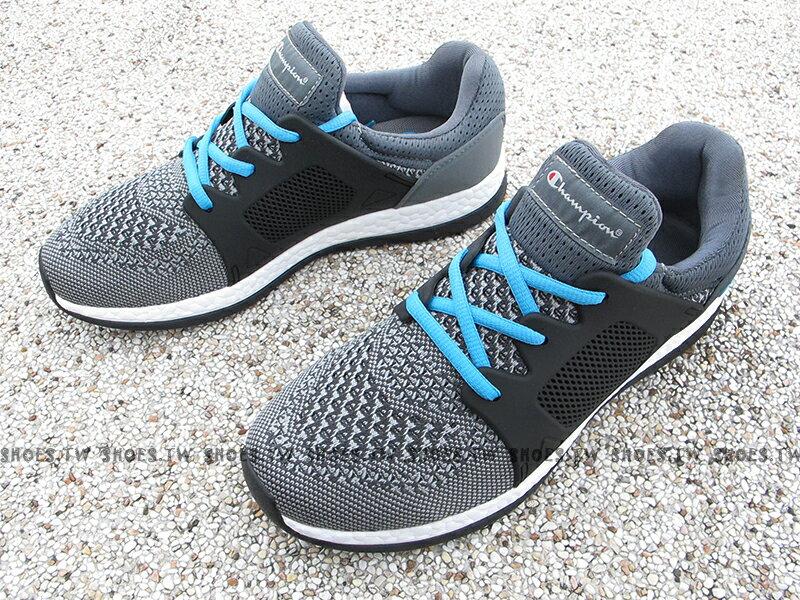 《限時特價799元》Shoestw【732220122】Champion 休閒鞋 ATHLETIC 灰黑水藍 襪套 網布 女生 1