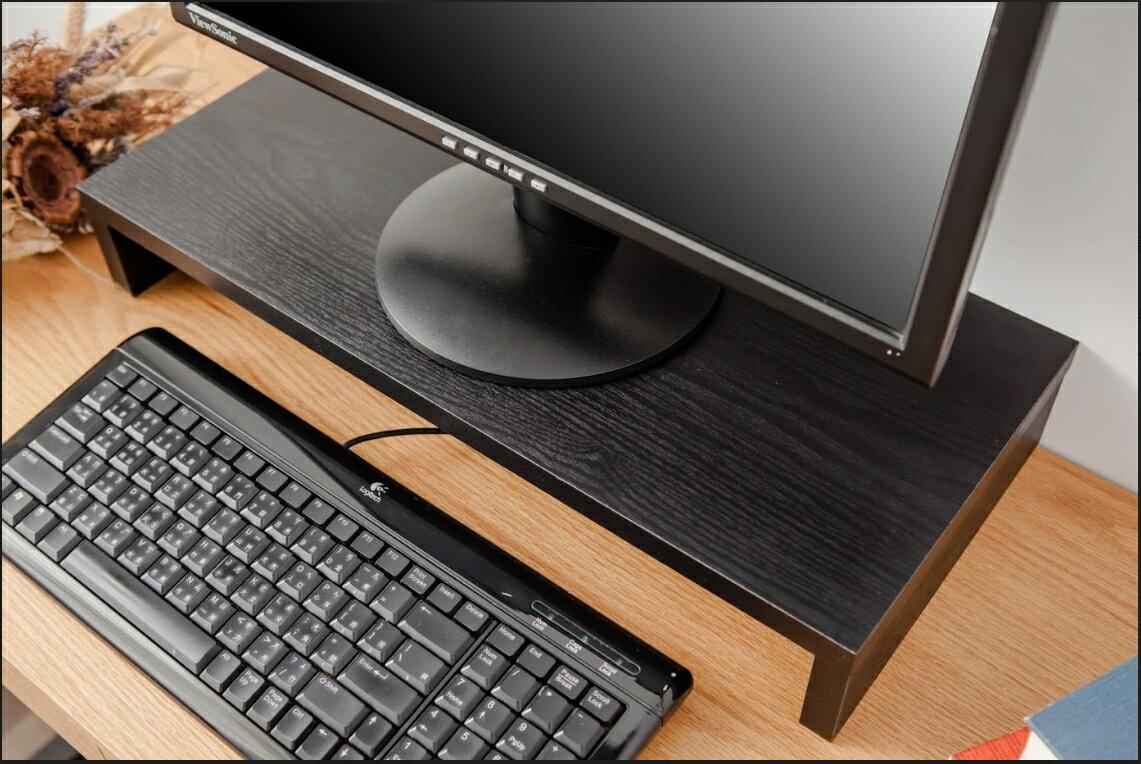 獨家 黑細木紋18MM螢幕架/桌上置物架/增高架/鍵盤架/防潑水