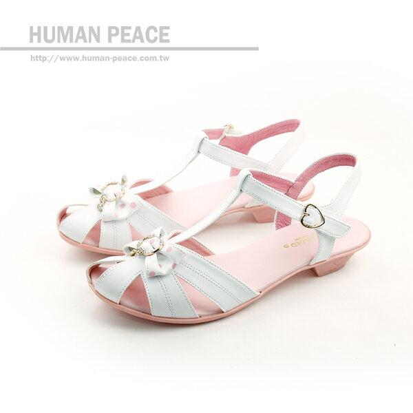 小女生鞋 涼鞋 白 中童 no108