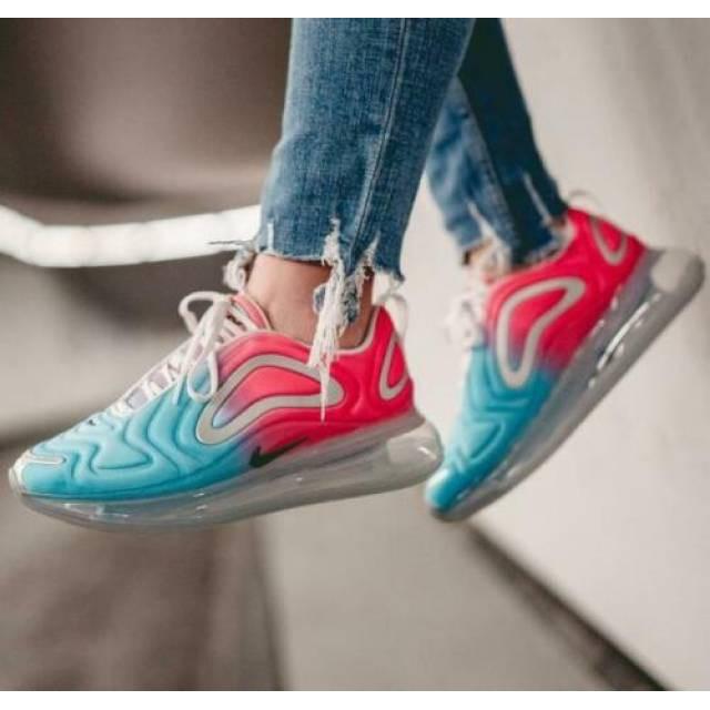 【日本海外代購】NIKE AIR MAX 720 全氣墊 慢跑鞋 休閒 藍粉 藍橘 新款 熱門 女鞋 AR9293-600