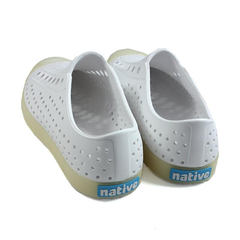 native JEFFERSON 休閒鞋 洞洞鞋 白色 男女鞋 11100100-1966 no993