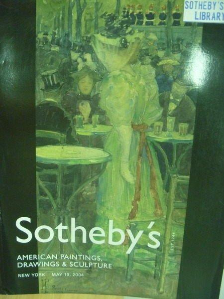 【書寶二手書T4/收藏_XFQ】Sothebys_2004/5/19_American Painting…
