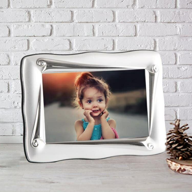 【快速出貨】弗萊文茨3寸歐式相框金屬相框相架兒童相框照片框擺台橫豎通用 七色堇 新年春節送禮