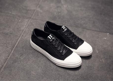 FINDSENSE服飾:FINDSENSEMD日系時尚潮男高品質頭層牛皮綁帶款低跟休閒鞋板鞋運動鞋