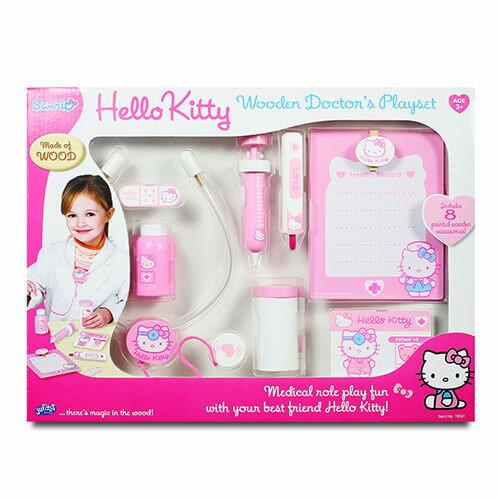 【 Hello Kitty 凱蒂貓】KT木製醫護組 KT25204