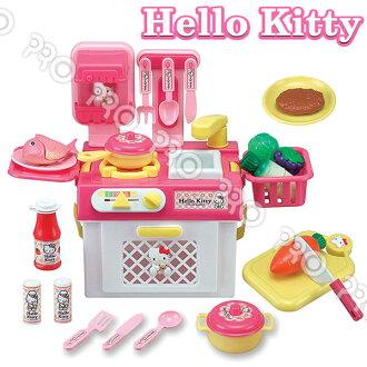 HELLO KITTY流理台瓦斯爐玩具組/HELLO KITTY/扮家家酒/角色扮演/三麗鷗