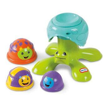 小泰可-烏龜疊疊樂/Little Tike/幼兒玩具/有聲光音效/家家酒遊戲/積木