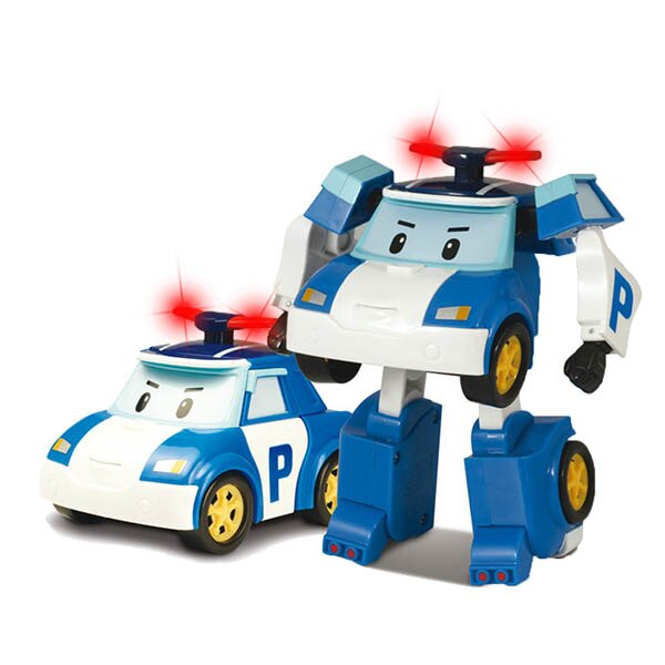 LED變形波力/ROBOCAR POLI/ 救援小英雄/ 可愛造形/可變形/LED