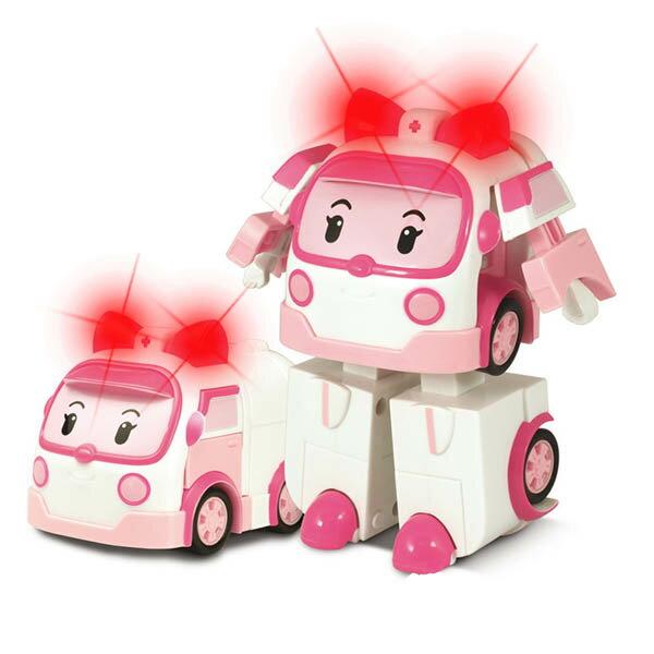 LED變形安寶/ROBOCAR POLI/ 波力/ 救援小英雄/可愛造形/可變形/LED