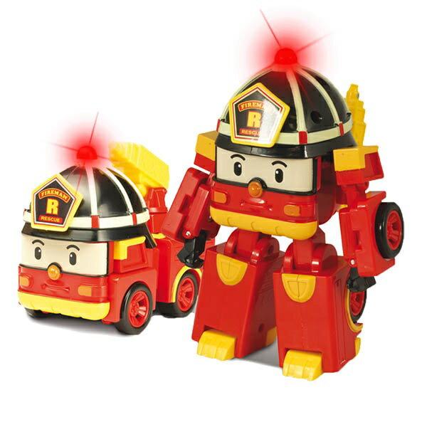 LED變形羅伊/ROBOCAR POLI波力/ 救援小英雄/可愛造形/可變形/LED