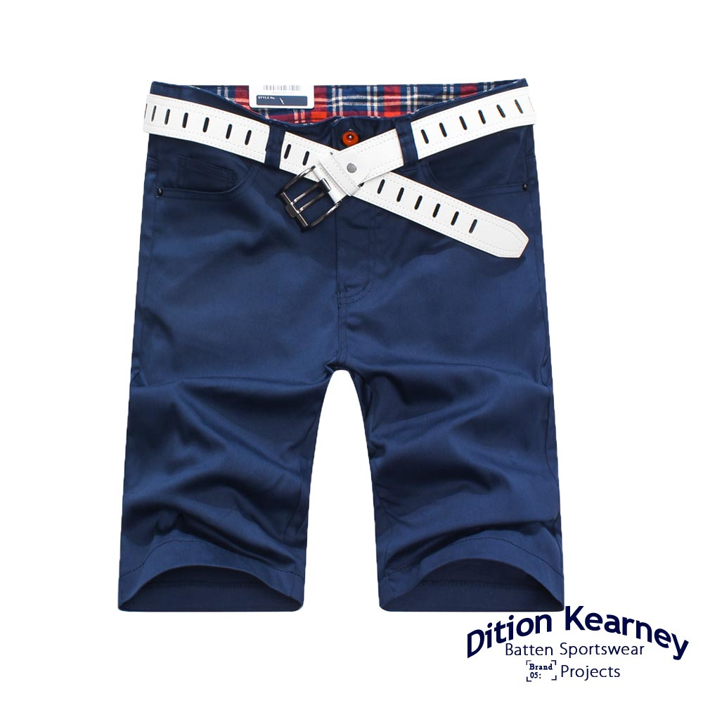 DITION SHOP 黑色卯釘格紋休閒短褲-共六色 有大尺碼 3