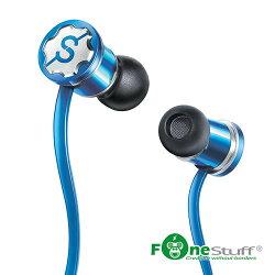 【迪特軍3C】FONESTUFF [線控耳機] 抗噪重低音耳塞式耳機-藍 手機耳機 內耳式耳機 耳道式耳機
