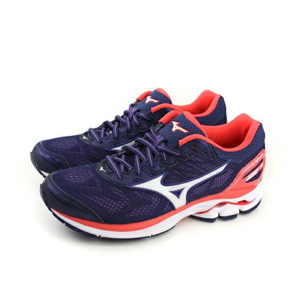 HUMAN PEACE:美津濃MizunoWAVERIDER21慢跑鞋運動鞋紫色女鞋J1GD180302no051