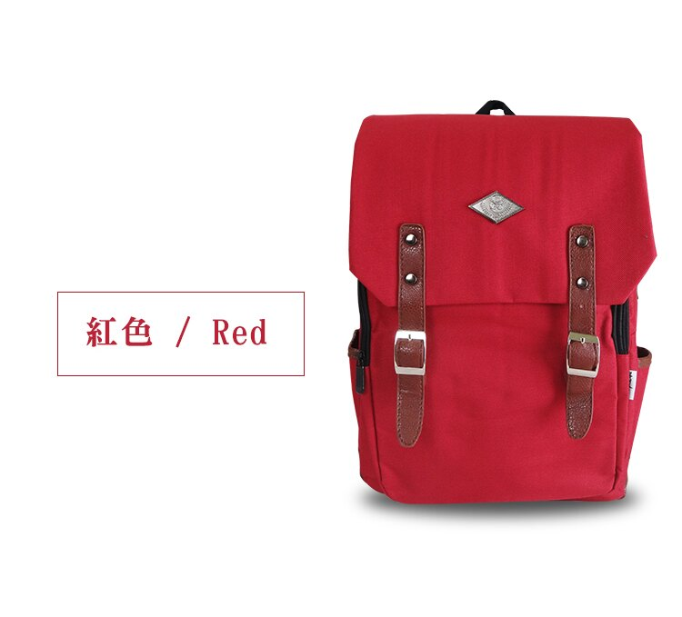 《熊熊先生》高質感韓版學院風後背包 六色 素面帆布休閒包款 旅遊外出包 書包