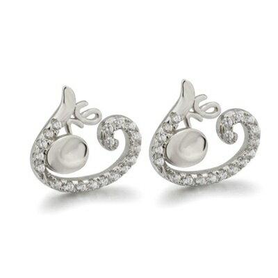 ~925純銀耳環鑲鑽耳飾~精緻小巧耀眼迷人母親節生日情人節 女飾品73dm202~ ~~米