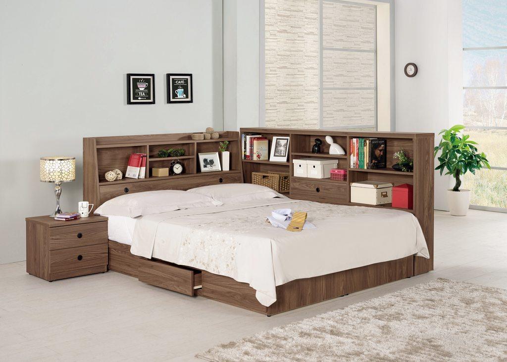 【 尚品傢俱】CM-665-1 諾艾爾5尺書架型雙人床 / 3.5尺書架型單人床