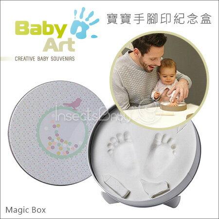 ?蟲寶寶?【比利時Baby Art Magic Box】寶寶手腳印紀念 / 手腳膜 - 圓形魔術紀念盒