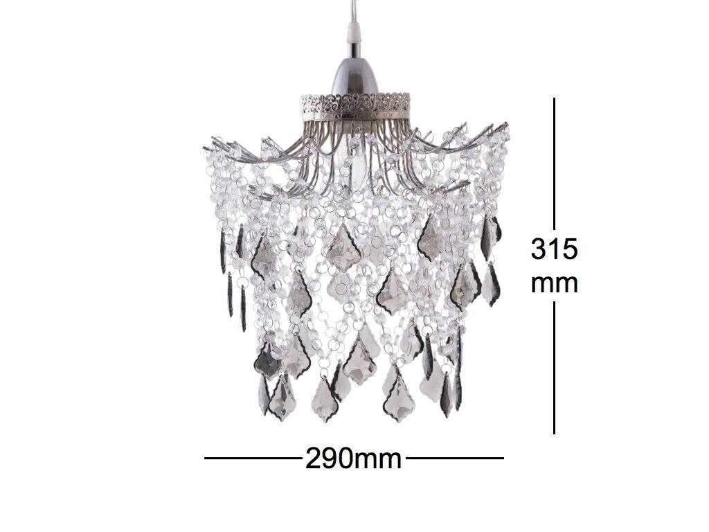 鍍鉻黑灰壓克力珠吊燈-BNL00045 7