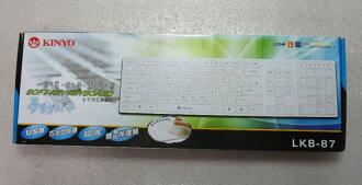 ★綠光能Outlet★福利品★KINYO LKB-87 多媒體USB巧克力鍵盤-白