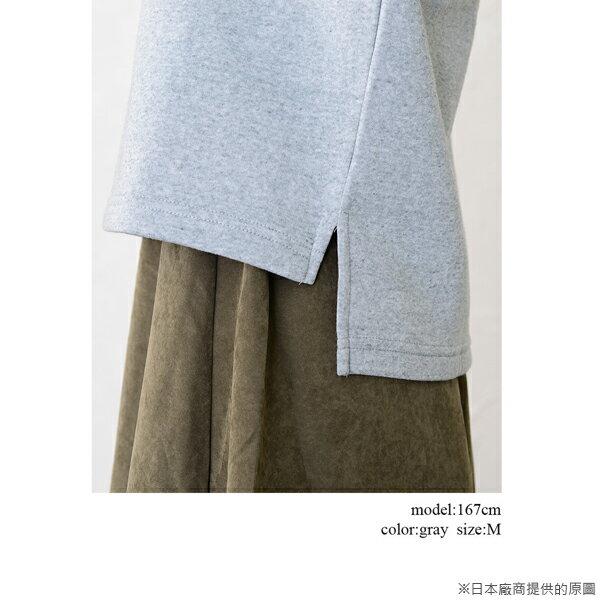 【日本品牌   mitis】打褶袖刷毛長袖上衣 (灰色) 2